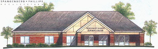 Sketch of finished NWKSC building.